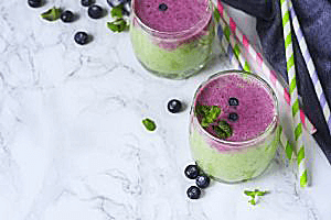 Blueberry Mint Green Smoothie
