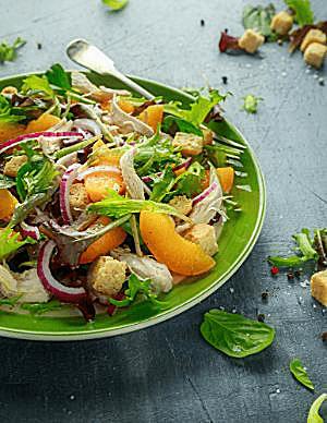 Chicken & Peach Salad